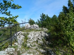 Suchy Połeć - punkt widokowy na zamek Ogrodzieniec